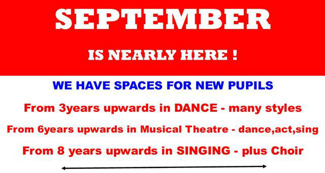 Spaces available from September